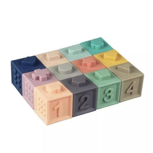 Multicolor Silicone Building Blocks Set