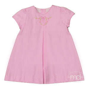 Sophie & Lucas Girls Oxford Dot Pink Dress - Madison-Drake Children's Boutique