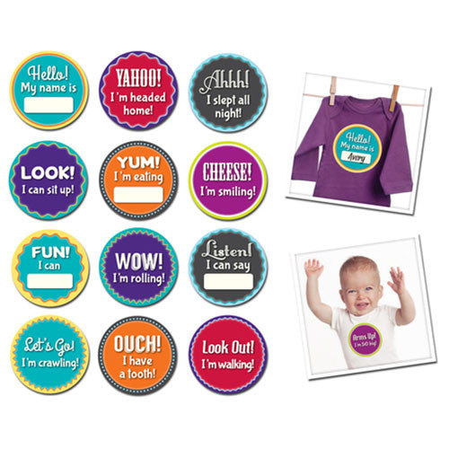 Sticky Bellies Milestone Momentos Babys Firsts Stickers - Madison-Drake Children's Boutique