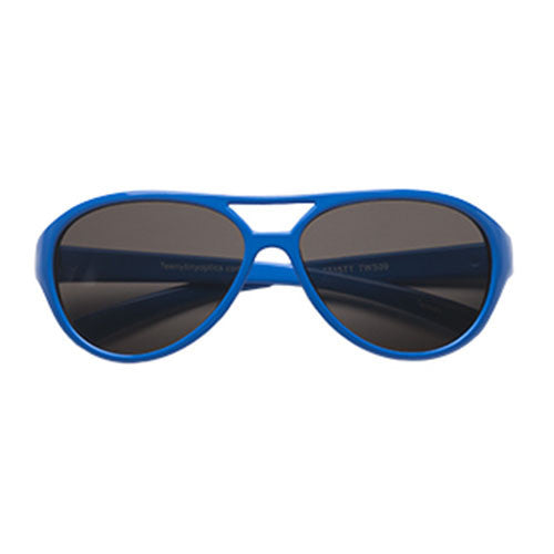 Teeny Tiny Optics Cassidy Aviator Style Toddler Sunglasses Blue