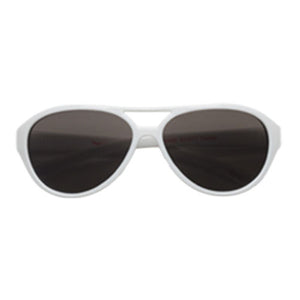 Teeny Tiny Optics Cassidy Aviator Style Toddler Sunglasses White
