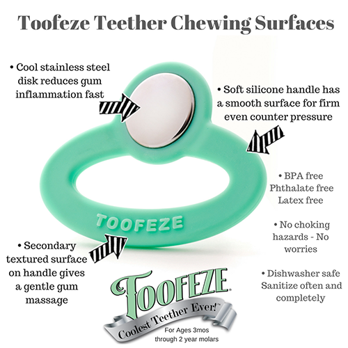 Toofeeze Stainless Steel Silicone Baby Teether Shower Gift