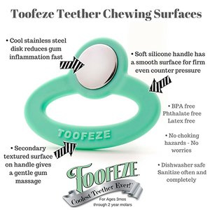Toofeeze Stainless Steel Baby Teether - Madison-Drake Children's Boutique