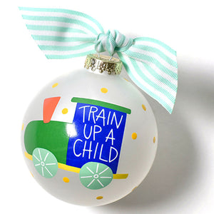 Coton Colors Train Up A Child Glass Ornament - Madison-Drake Children's Boutique