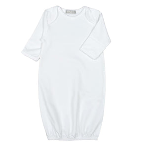 Solid White Newborn Baby Gown