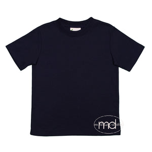 Zuccini Boys Navy Blue Basic Tee - Madison-Drake Children's Boutique