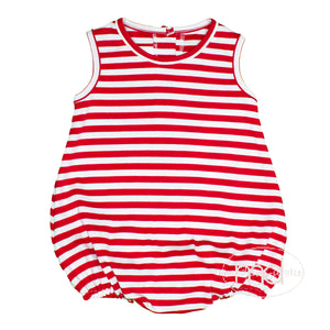 Zuccini Red Striped Little Boy's Knit Sunsuit