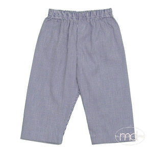 Zuccini Little Toddler Boy's Royal Blue Gingham Check Pants