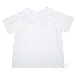Zuccini Short Sleeve Boys White Dress Shirt - Madison-Drake Children's Boutique
