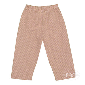 Zuccini Little Toddler Boy's Brown Gingham Check Pants