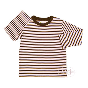 Zuccini Brown Striped Boys Knit Shirt - Madison-Drake Children's Boutique