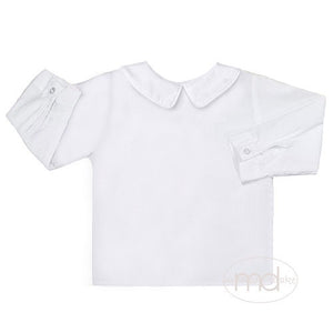 Zuccini Baby / Toddler Boys White Dress Shirt - White Piping - Madison-Drake Children's Boutique