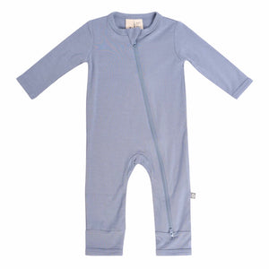 Kyte Baby Boys Zippered Romper - Slate
