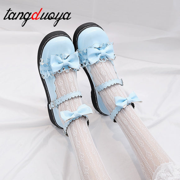 lolita shoes Kawaii Bow Lace