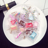 1 Pair Korean Candy  Transparent  Lollipop Earrings