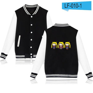 Sailor Moon Cartoon Printed Fashion Hip Hop Baseball Jacket