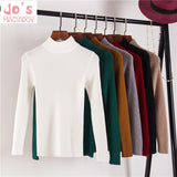 Winter Women Solid Knitted Sweater