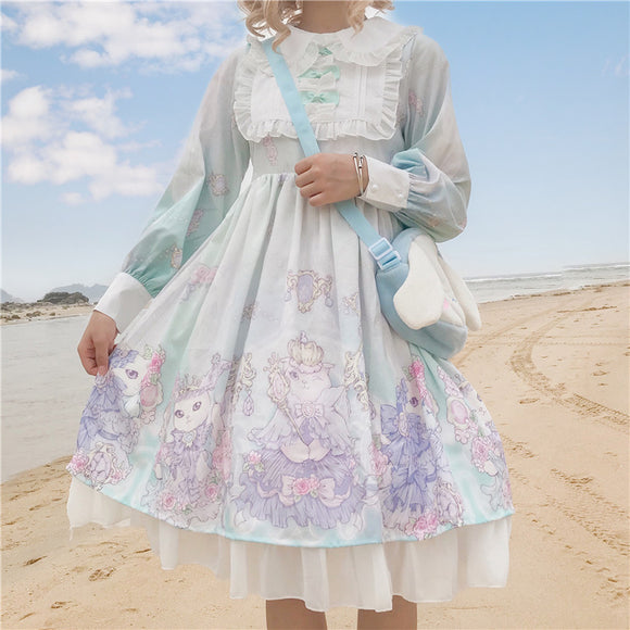 Princess daily sweet lolita dress vintage lace bowknot