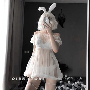 Sexy Lingerie Bunny Cosplay Dress and Underwear