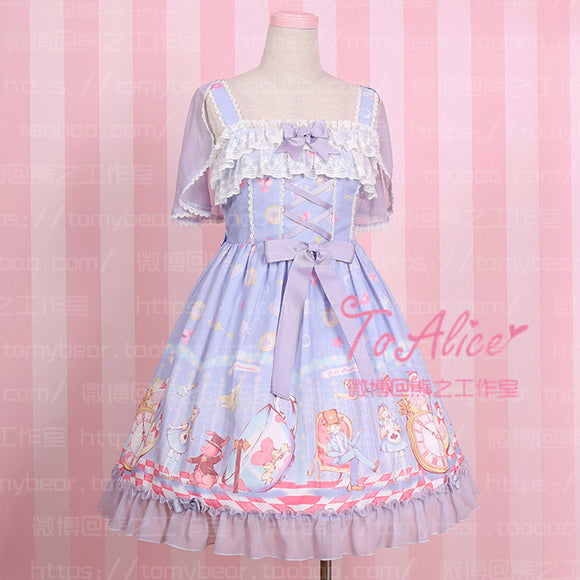 Super Cute To Alice Alice in Wonderland Fairytale JSK Lolita Dress