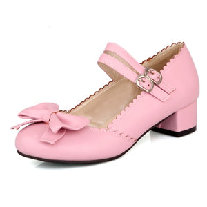 Japanese sweet Lolita bow Women Pumps