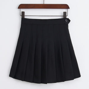 high waist pleated tennis skirt