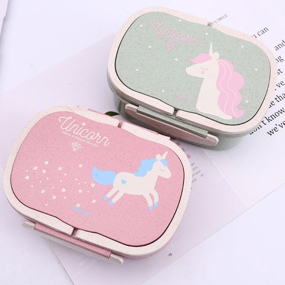 Cokytoop Student Unicorn Lunch Box  Eco-Friendly