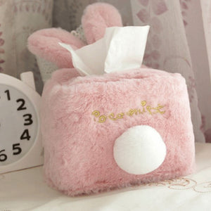 Rabbit Shape Room Plush Tissue Box