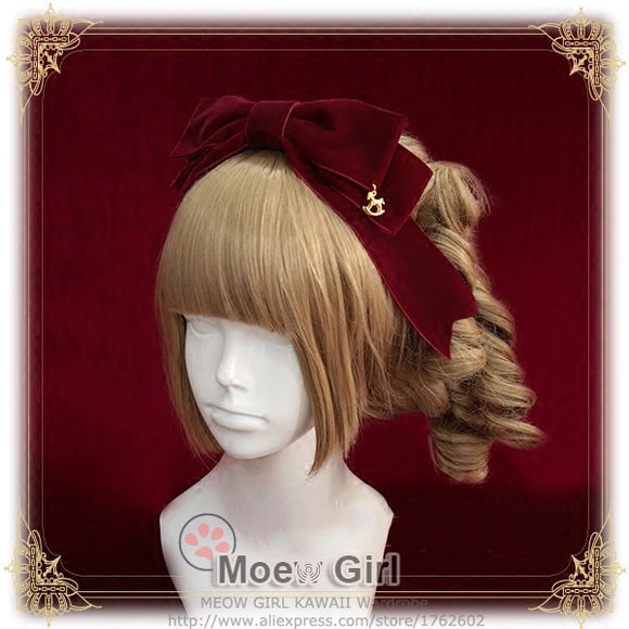 [Fairytale World]+Princess and the Pea+Barrette Lolita Trojan Pendant Big Bow Hair Clip