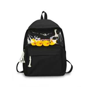 Bagpack School Bag Fashion Canvas Cute Duck