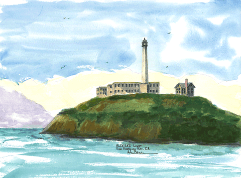 Alcatraz Light, CA