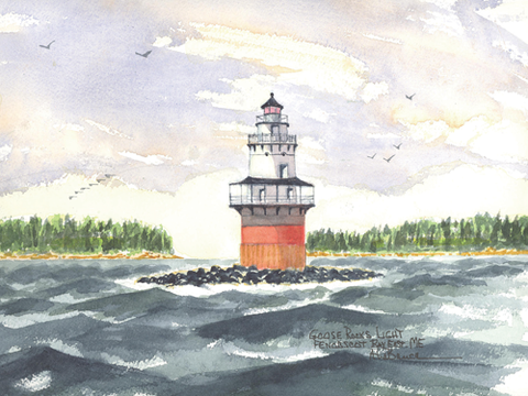 Goose Rocks Lighthouse A, ME