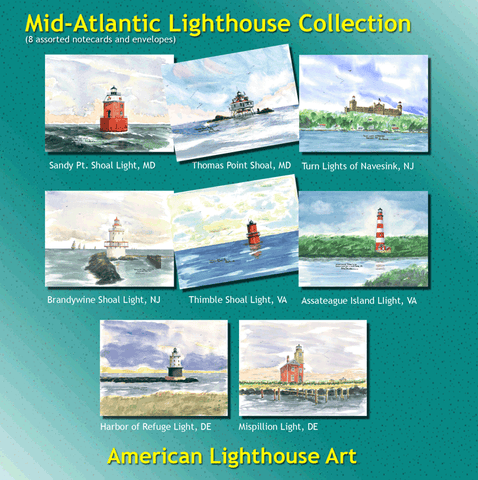 Mid-Atlantic Lighthouse Collection Assorted Cards