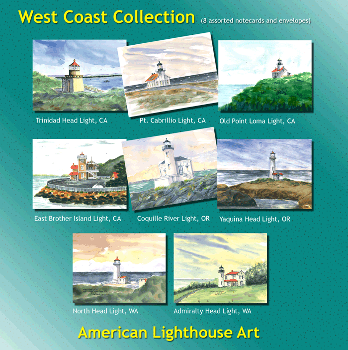 West Coast Lighthouse Collection Assorted Cards
