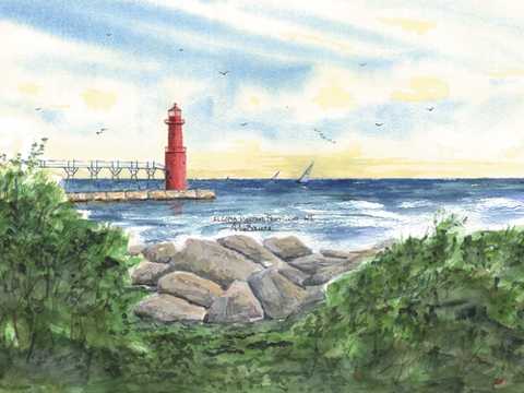 WISCONSIN Lighthouses -  See both Lighthouses!