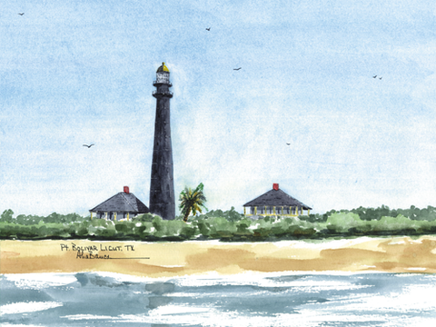 TEXAS Lighthouses -Click on the Lighthouse for details!