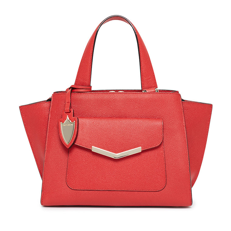 Chloe Mini Tote in Cherry Red