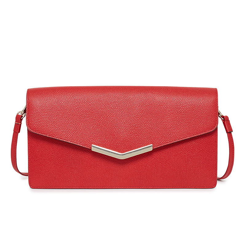 Demi Clutch in Cherry Red