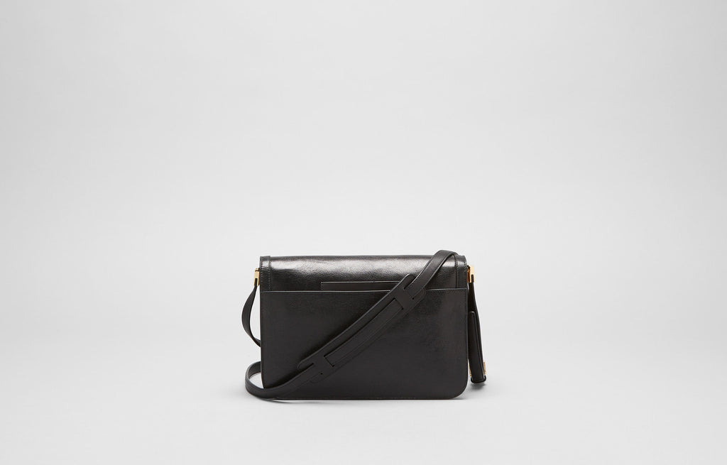 AFFINE SMALL SHOULDER BAG- BLACK/GOLD