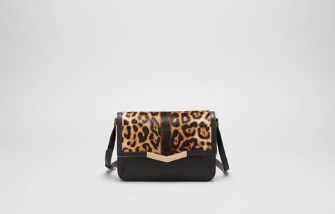 AFFINE SMALL SHOULDER BAG - LEOPARD HAIRCALF