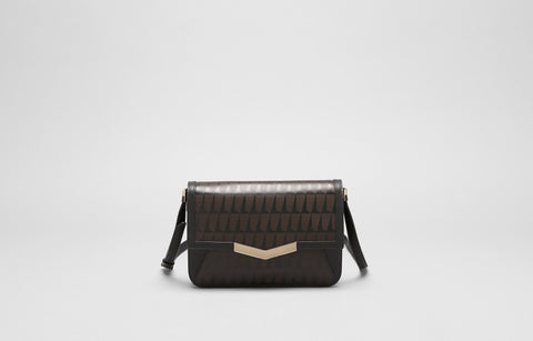 AFFINE SMALL SHOULDER BAG - TOBACCO