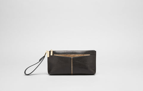 BETTE CLUTCH  - BLACK/GOLD