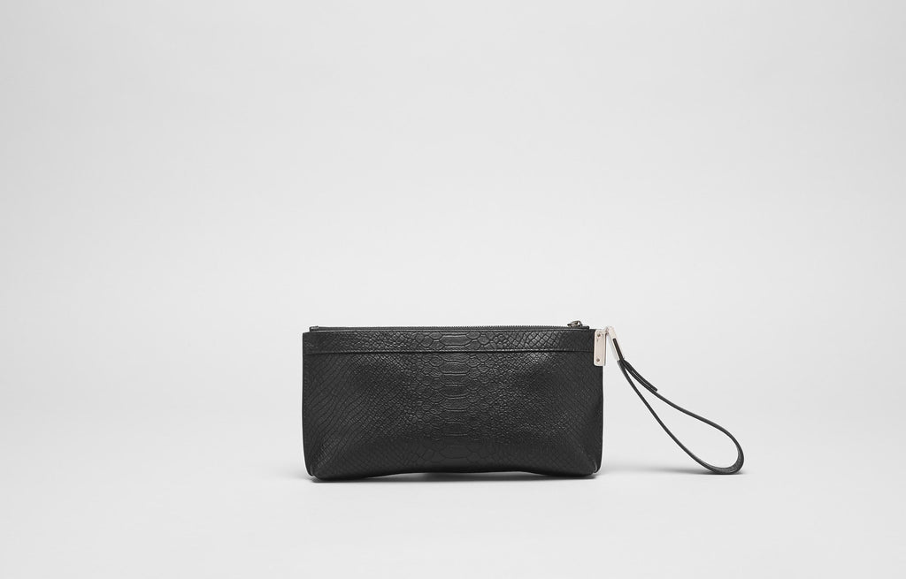 BETTE CLUTCH  - BLACK SERPENT