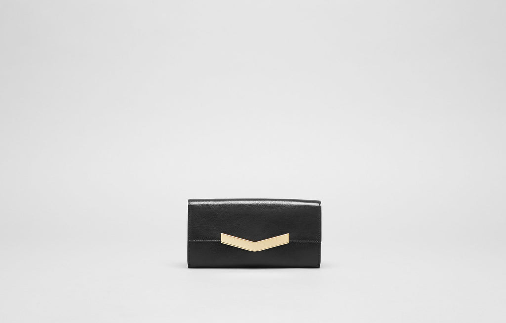 CHEVRON WALLET - BLACK/GOLD