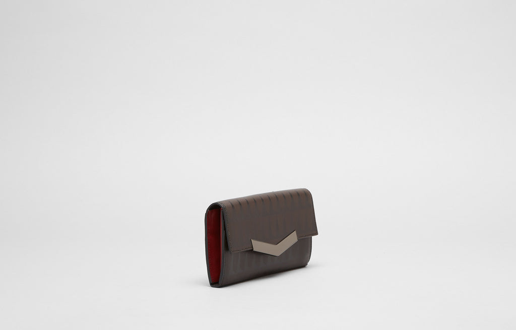 CHEVRON WALLET - TOBACCO/CHERRY