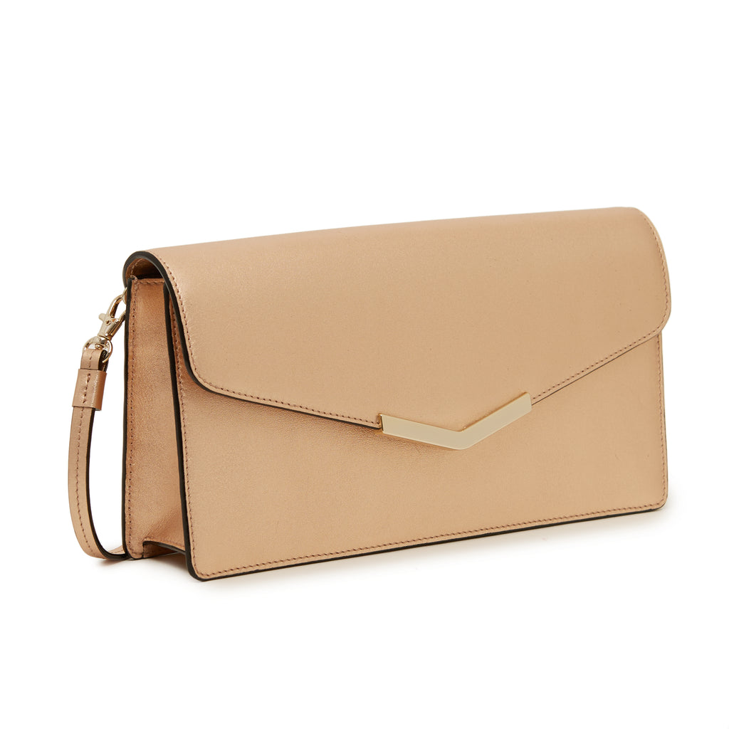 Demi Clutch in Rose Gold