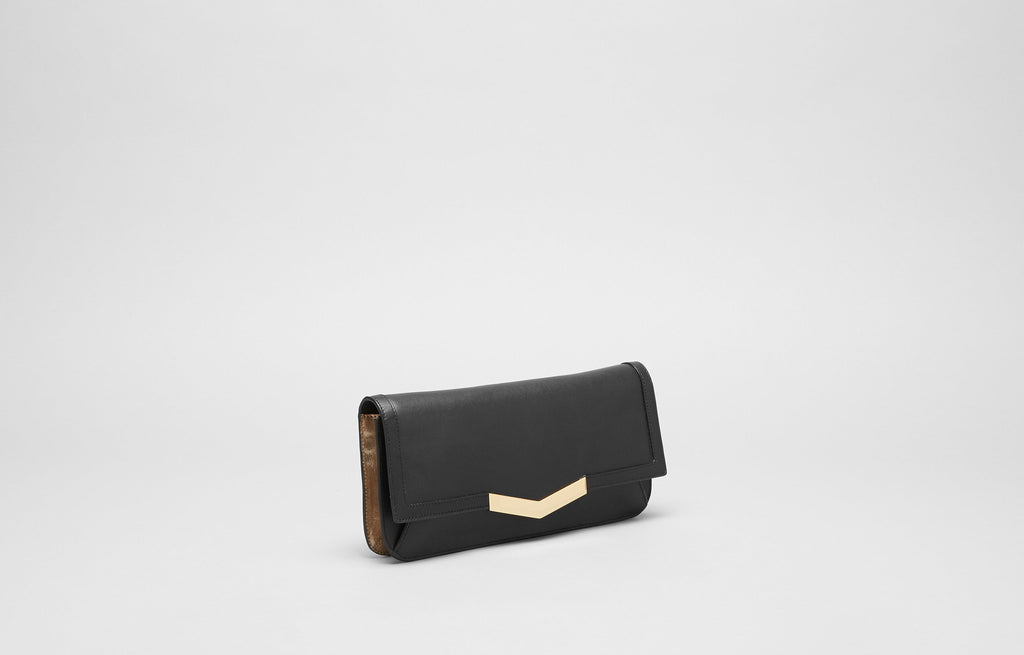 GYA CLUTCH - BLACK/GOLD