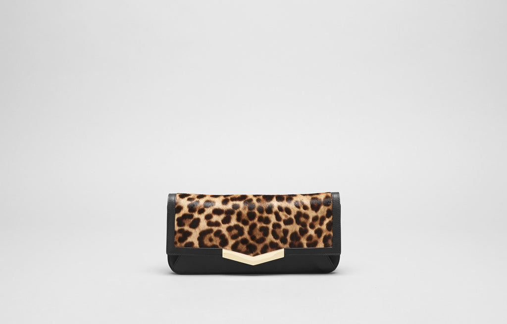 GYA CLUTCH - LEOPARD HAIRCALF