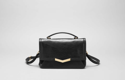 HELENE SHOULDER BAG - BLACK GLAZE