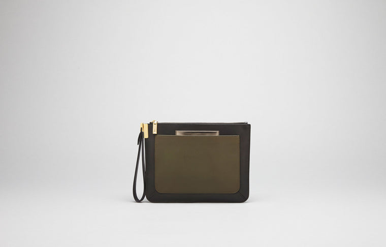 ISHI SMALL WRISTLET - BLACK/MILITAIRE
